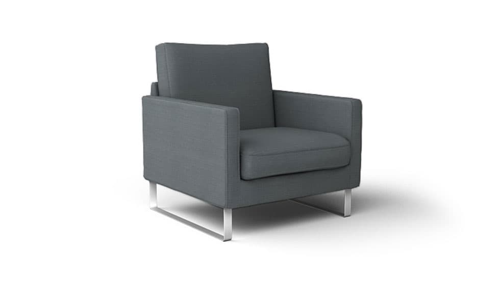 IKEA Mellby Armchair Covers Kino Charcoal Heavy Duty Couch Slipcover