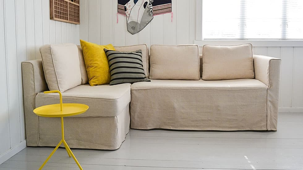 Ikea Elbo Sofa Covers Lino Vintage Linen Blends Couch Slipcover