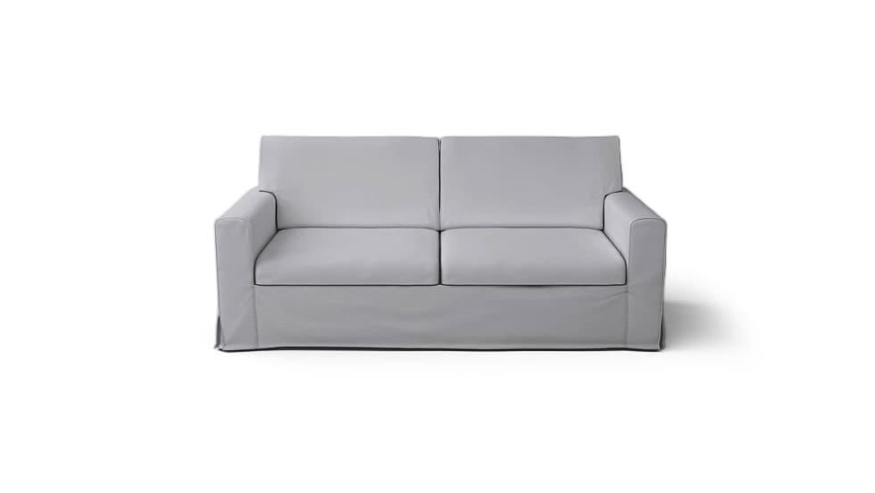 IKEA Sandby Sofa Covers Gaia Fog Panama Cotton Couch Slipcover