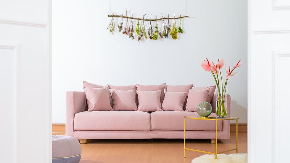 IKEA Stockholm 3er Sofabezug aus Madison Rose Baumwolle