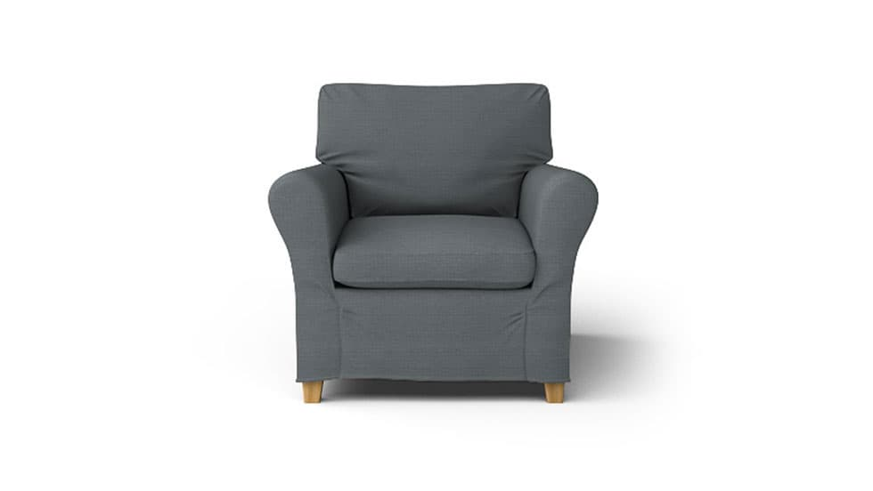 IKEA Angby Armchair Covers Kino Charcoal Heavy Duty Couch Slipcover