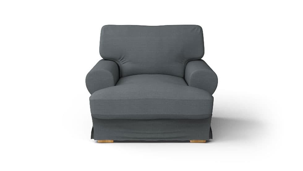 IKEA Ekeskog Armchair Covers Kino Charcoal Heavy Duty Couch Slipcover