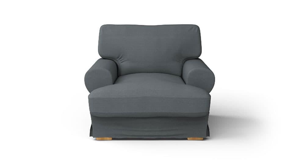 IKEA Ekeskog Sesselbezug Kino Charcoal