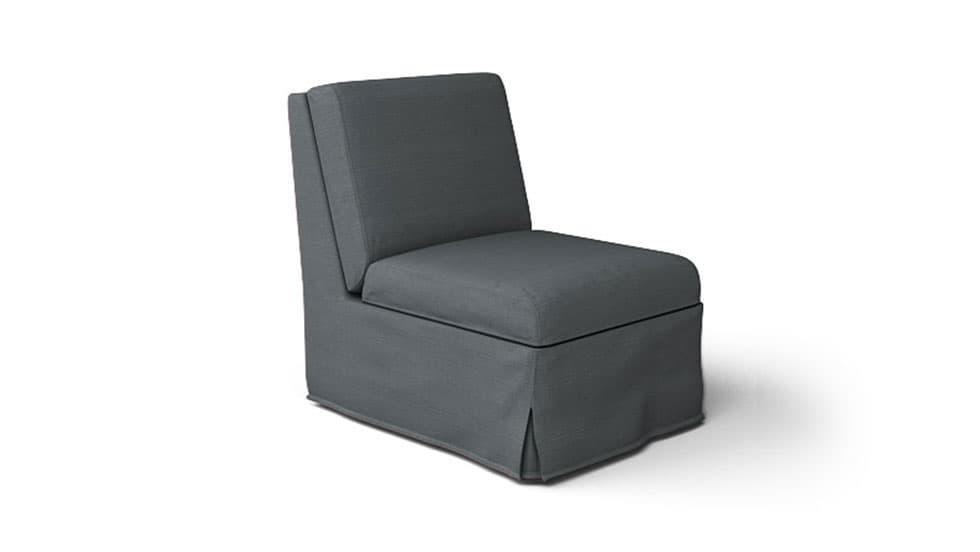 IKEA Sandby Armchair Covers Kino Charcoal Heavy Duty Couch Slipcover