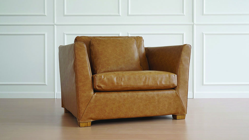91 IKEA Stockholm Armchair Covers Savannah Saddle Synthetic Leather Couch Slipcover