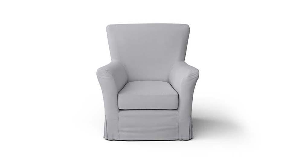 IKEA Tomelilla Armchair Covers Gaia Fog Panama Cotton Couch Slipcover