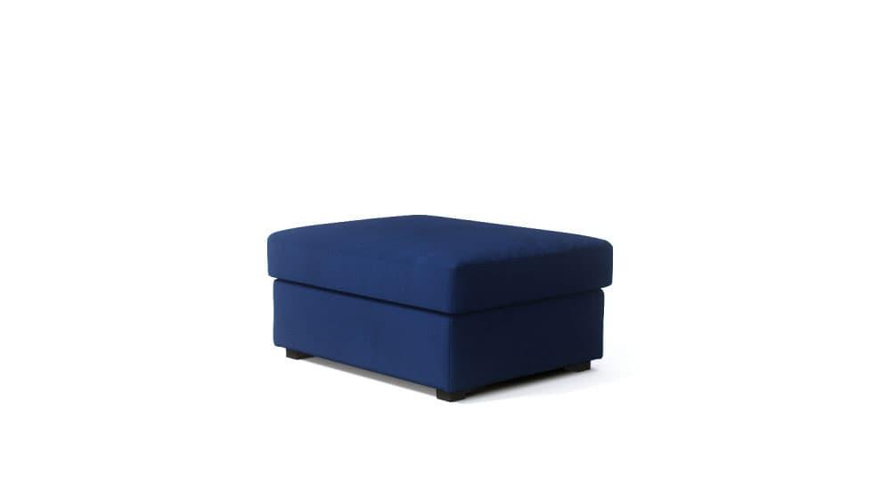 IKEA Kivik Footstool Covers Rouge Indigo Velvet Blends Couch Slipcover