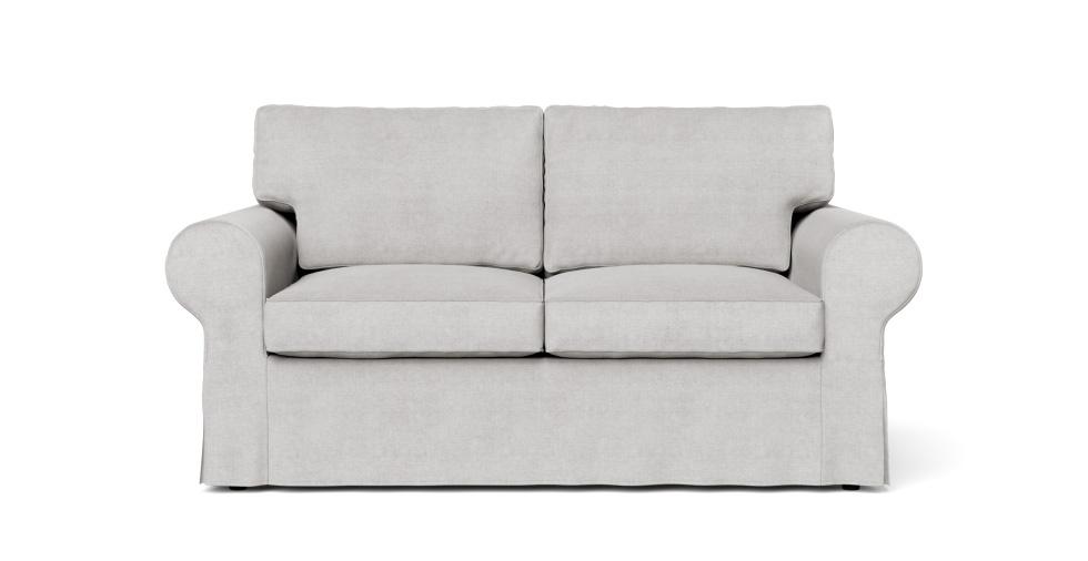 Sensational Boxed Seats Loose Fit Round Arm Loveseat Slipcover Creativecarmelina Interior Chair Design Creativecarmelinacom