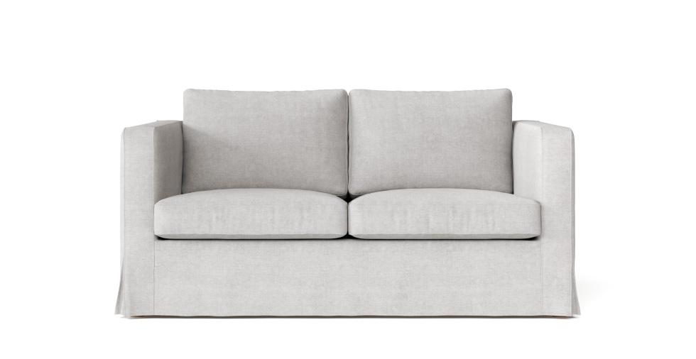 Marvelous Boxed Seats Loose Fit Square Arm Loveseat Slipcover Creativecarmelina Interior Chair Design Creativecarmelinacom