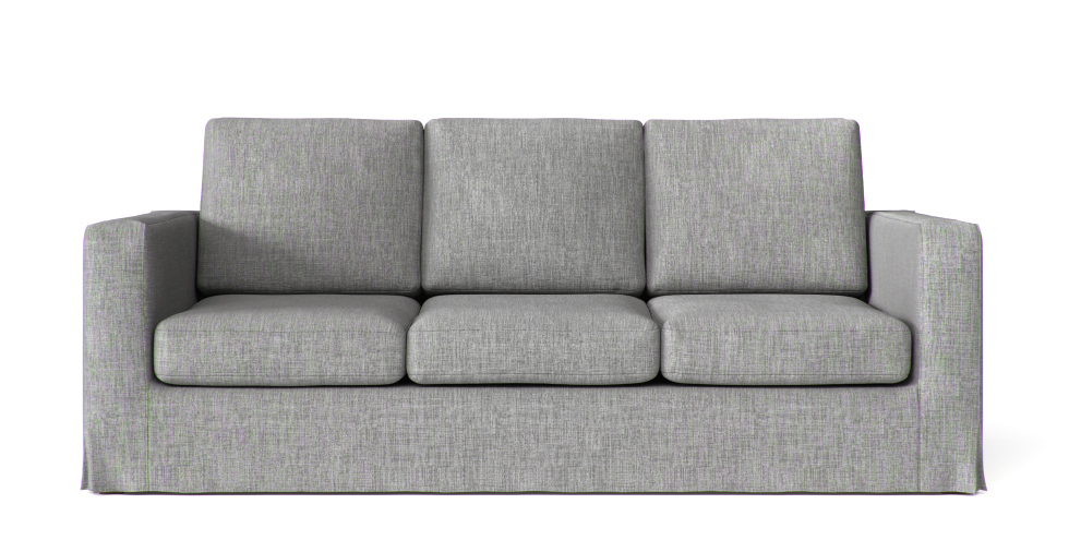 Boxed Seats Loose Fit Square Arm Sofa Slipcover