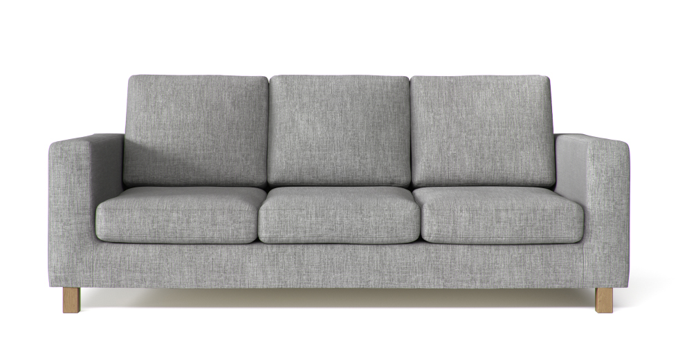 Boxed Seats Snug Fit Square Arm Sofa Slipcover
