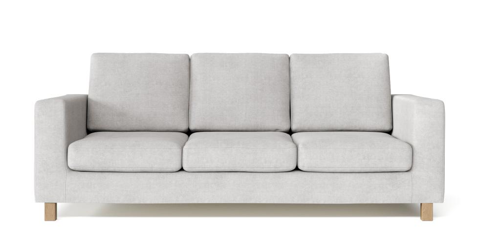 Boxed Seats Snug Fit Square Arm Sofa Slipcover