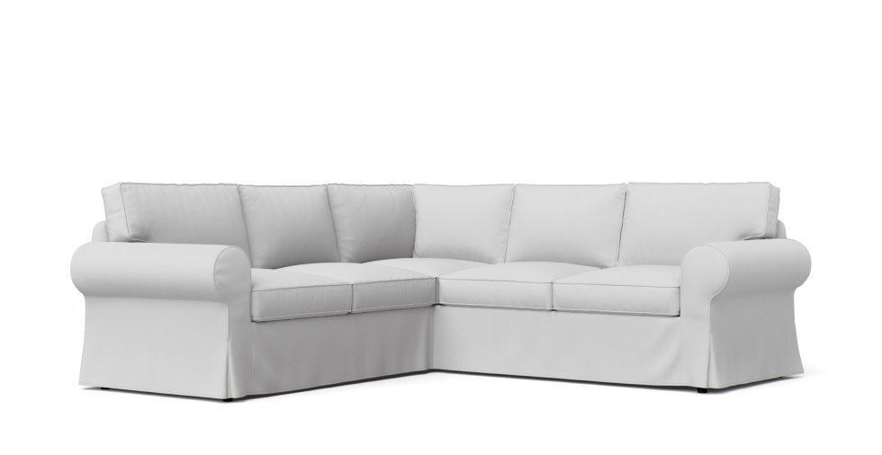 Pottery Barn PB Basic Sectional Slipcovers in White Cotton