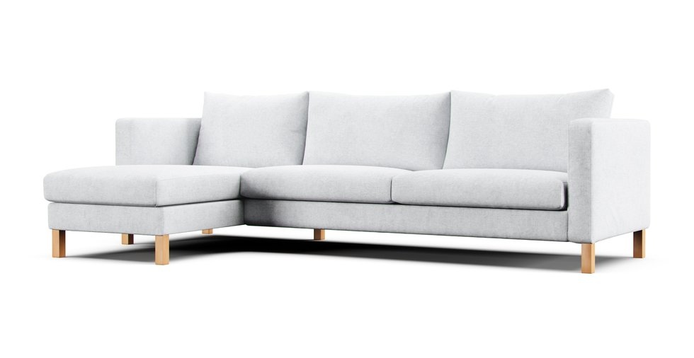 Karlstad Sofa With Chaise Slipcovers, Karlstad Sofa Bed Cover