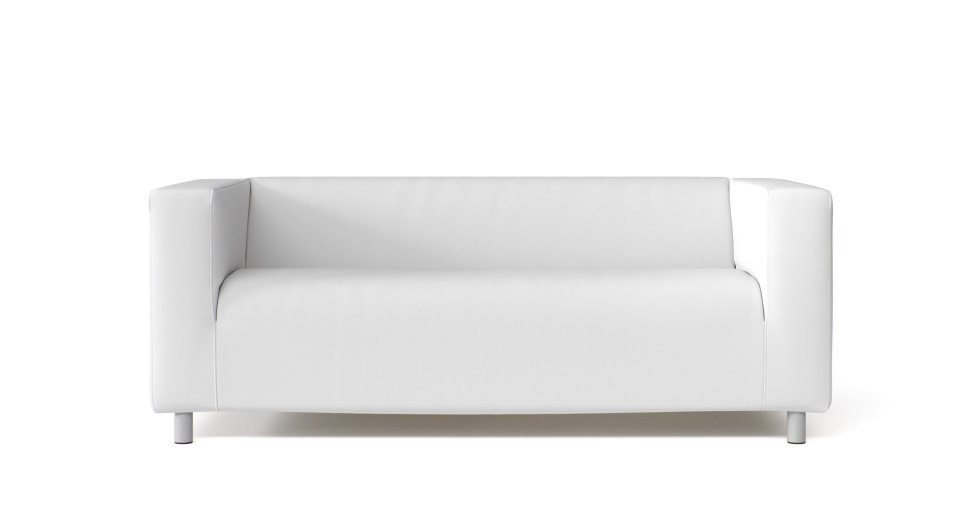 IKEA Klippan 2 Seater Sofa Cover in White Cotton