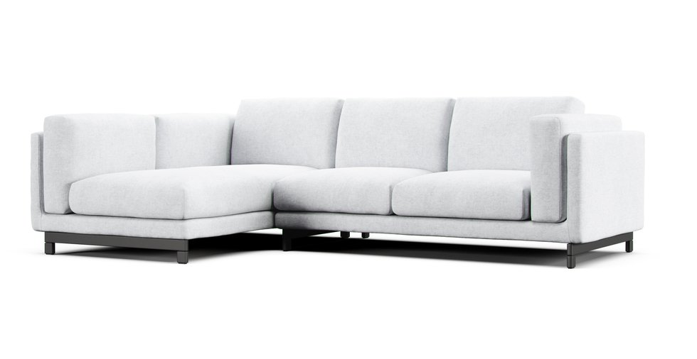 Nockeby 2 Seater and Chaise LEFT Sofa Cover | Comfort Works