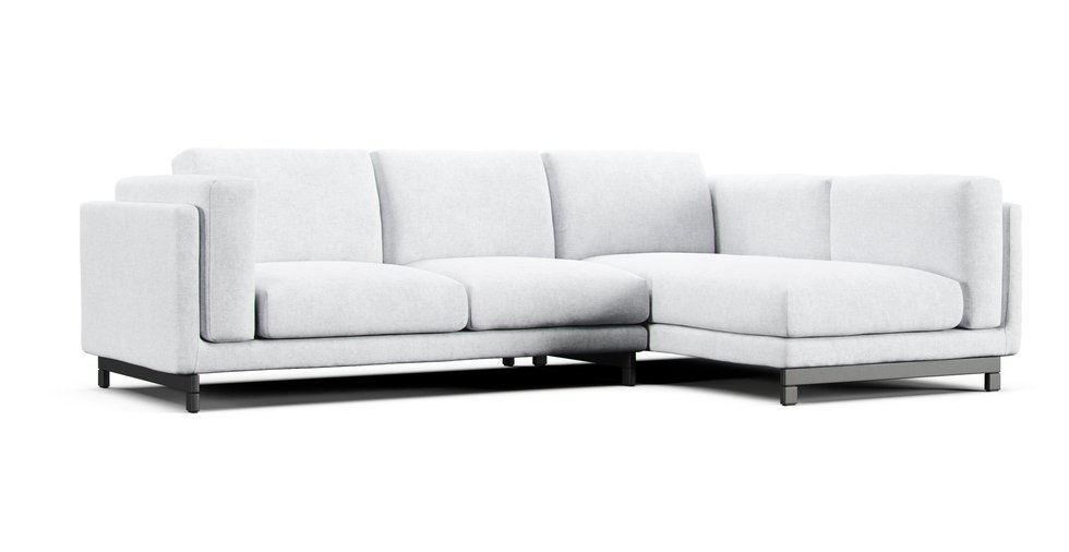 Nockeby 2 Seater and Chaise RIGHT Sofa Cover | Comfort Works