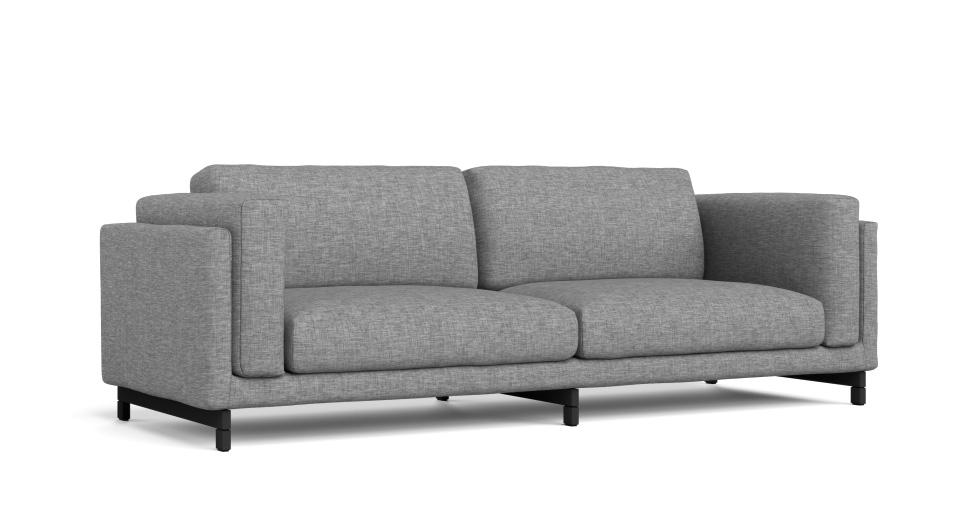 Ikea 3 seater sofa nockeby sofa with chaise right tallmyra for Sofa nockeby