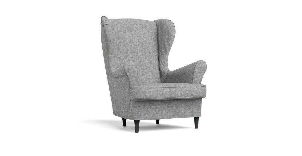 ikea sessel mit hocker strandmon. Black Bedroom Furniture Sets. Home Design Ideas