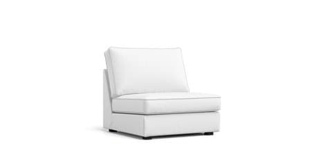 boxed seat snug fit armless chair slipcover