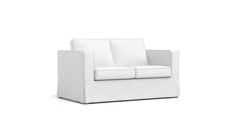 Admirable Boxed Seats Loose Fit Square Arm Loveseat Slipcover Creativecarmelina Interior Chair Design Creativecarmelinacom