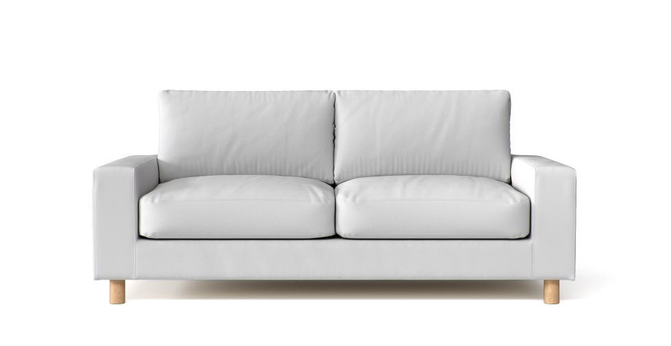 Muji 2.5 Seater Wide Arm Sofa Covers in White Cotton