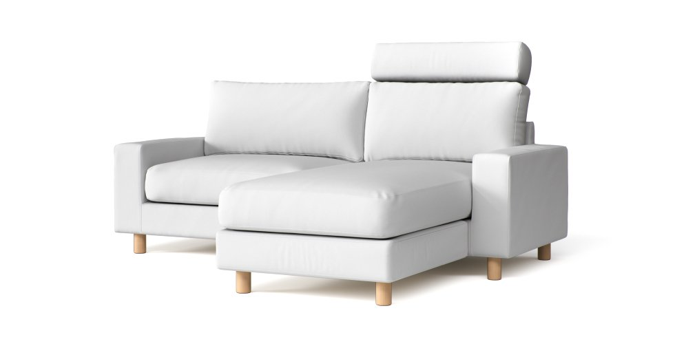 Custom Sectional Slipcovers in White Cotton