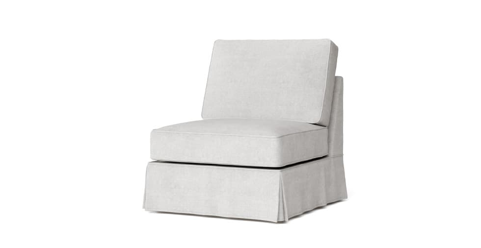 Pb Basic Armless Chair Slipcover