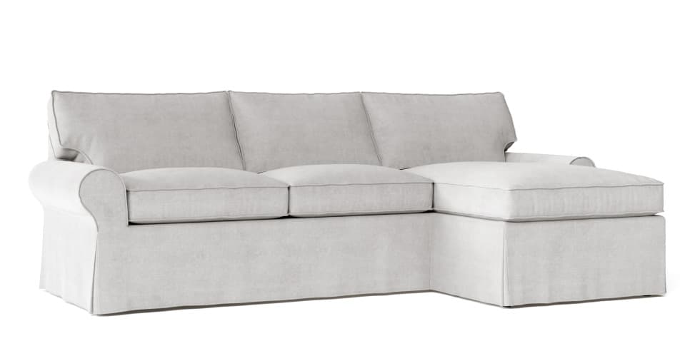 Pleasant Pb Basic Left Sofa With Chaise Sectional Slipcover Download Free Architecture Designs Sospemadebymaigaardcom