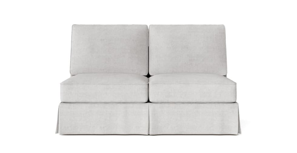 Awesome Pb Basic Armless Loveseat Slipcover Ocoug Best Dining Table And Chair Ideas Images Ocougorg