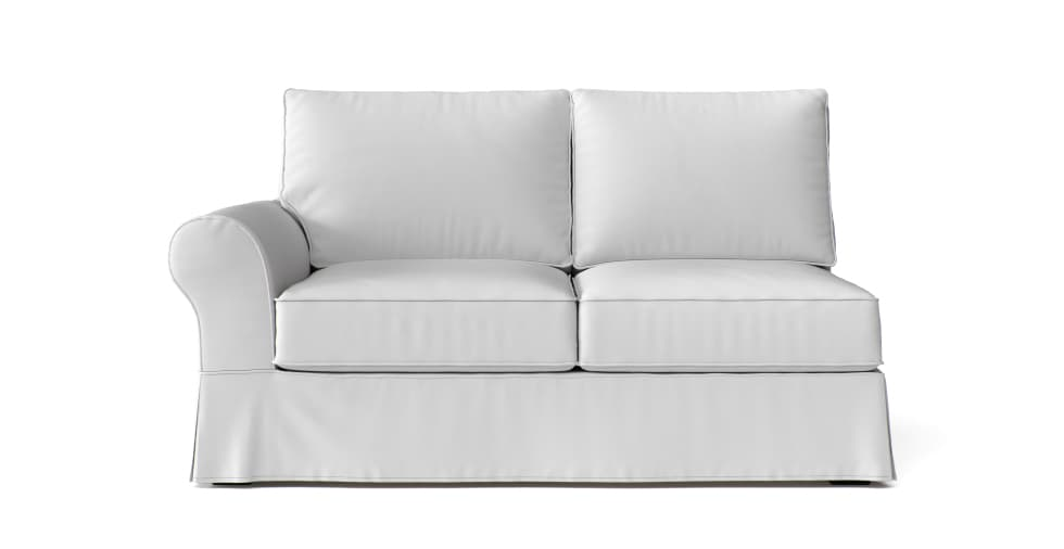 striped chairs small room dining white slipcover loveseat
