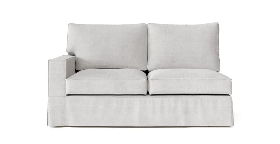 Astonishing Pb Comfort Square Arm Left Arm Loveseat Slipcover Evergreenethics Interior Chair Design Evergreenethicsorg