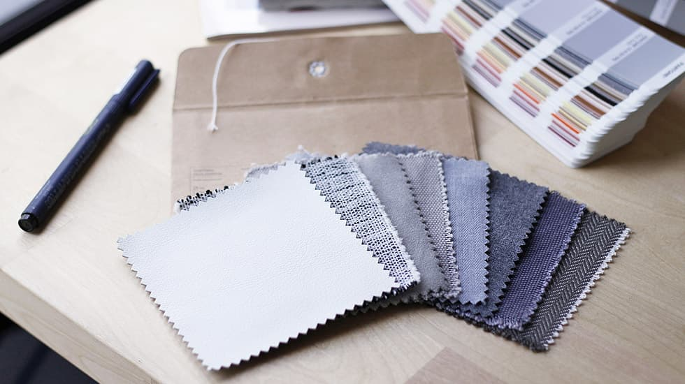 Choosing from Fabric Samples