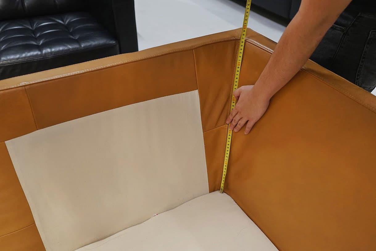 Innere Länge von Armlehnen/Rückenlehne