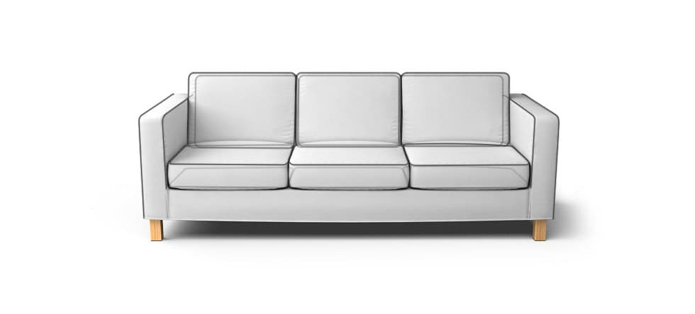 Square Arm Sofa Piping