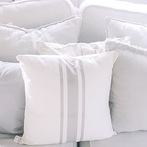 Pillows on the cushion