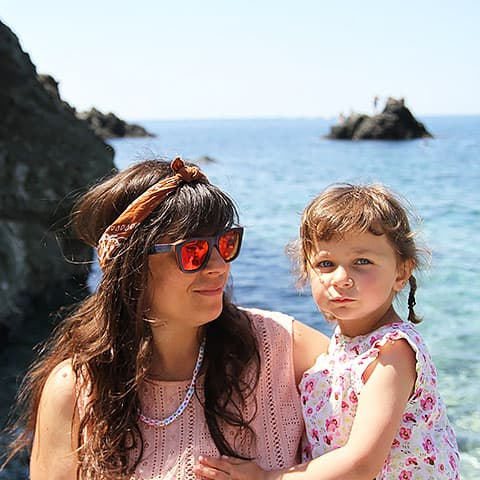 Debohra and Daughter on Holiday